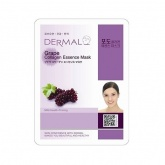 Маска для лица тканевая с виноградом и коллагеном Dermal Grape Collagen Essence Mask, 23 гр
