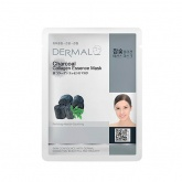 Маска для лица тканевая с углем и коллагеном Dermal Charcoal  Essence Mask, 23 гр