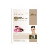 Маска для лица тканевая с пчелиным ядом и коллагеном Dermal Bee Venom Collagen Essence Mask, 23 гр
