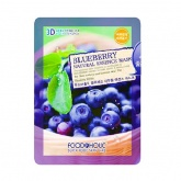 Маска для лица тканевая с экстрактом голубики Food a Holic Blueberry 3D Natural Essence Mask, 23 мл