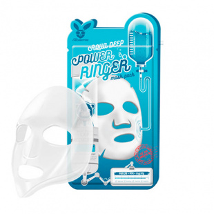 Тканевая маска для лица с гиалуроновой кислотой Elizavecca (Елизавекка) Aqua Deep Power Ringer Mask Pack, 23 мл